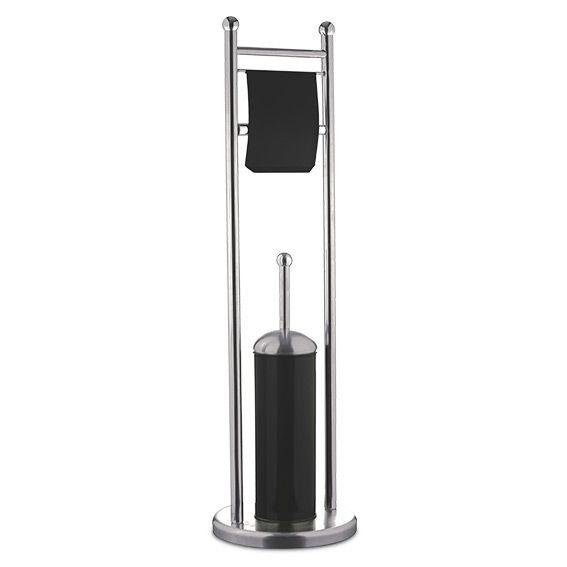 porte papier et brosse de toilettes ida noir kit wc eminza. Black Bedroom Furniture Sets. Home Design Ideas