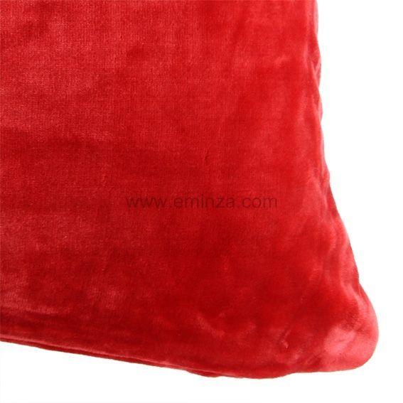 Housse de coussin 40 cm doudou rouge coussin et for Housse coussin rouge