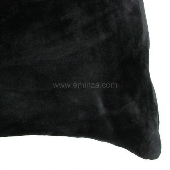 Housse de coussin 40 cm doudou noir housse de coussin for Housse coussin 40 60