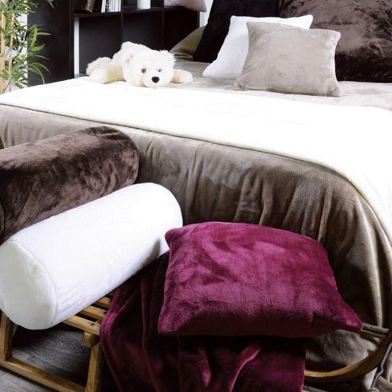 coussin polochon caldo ecru coussin eminza. Black Bedroom Furniture Sets. Home Design Ideas
