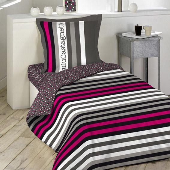 housse de couette et une taie 140 cm lulu rock housse de couette eminza. Black Bedroom Furniture Sets. Home Design Ideas