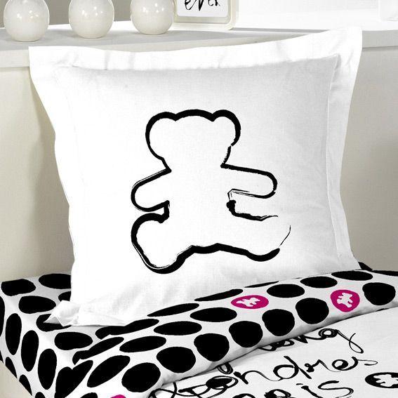 housse de couette et une taie 140 cm lulu calligraphie housse de couette eminza. Black Bedroom Furniture Sets. Home Design Ideas