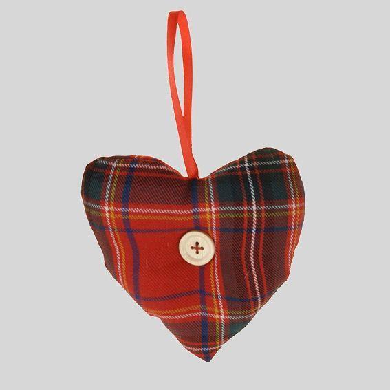 Coeur de no l anne rouge d coration suspendre eminza - Decoration coeur rouge ...