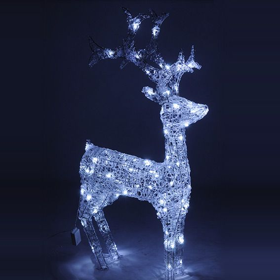 Renne lumineux neuch tel blanc froid 40 led silhouette - Decoration noel renne lumineux ...