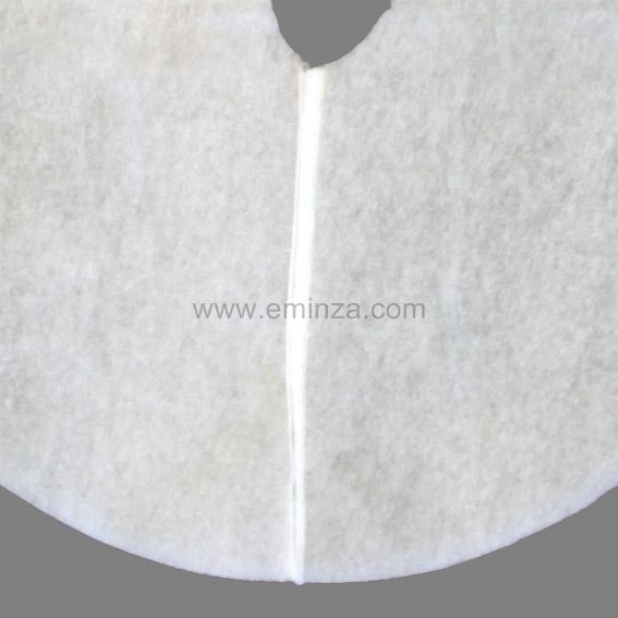 tapis de sapin rond blanc accessoires pour sapin eminza. Black Bedroom Furniture Sets. Home Design Ideas
