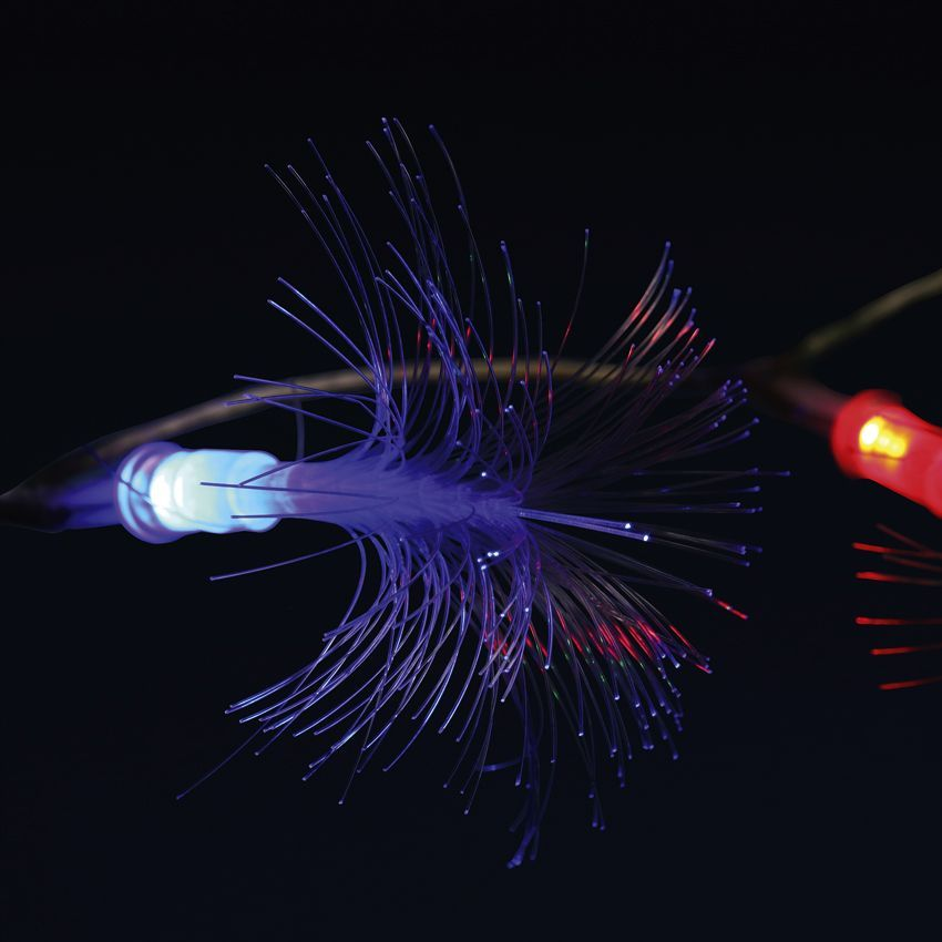 Fibre Optique Decoration Lumineuse : Guirlande lumineuse fibre optique telma multicolore