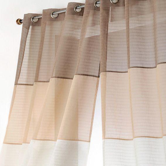 voilage 140 x h250 cm malaga beige voilage eminza. Black Bedroom Furniture Sets. Home Design Ideas