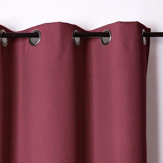 rideau occultant 140 x h240 cm oxford bordeaux rideau. Black Bedroom Furniture Sets. Home Design Ideas