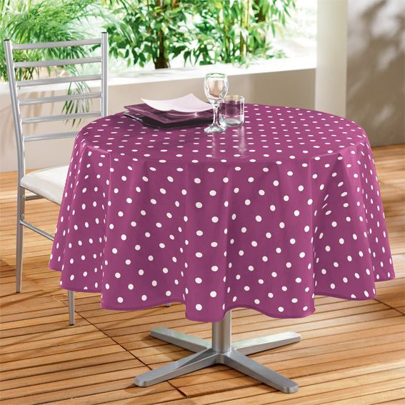 nappe cir e ronde d160 cm lollypop prune linge de table eminza. Black Bedroom Furniture Sets. Home Design Ideas