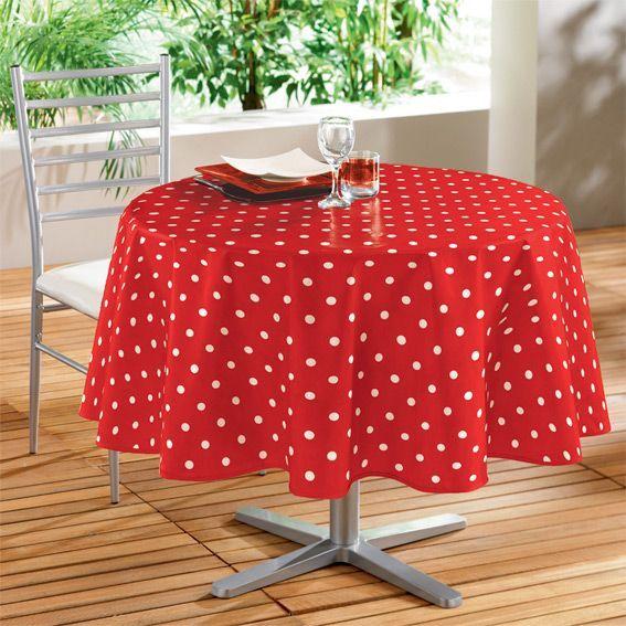 nappe cir e ronde d160 cm lollypop rouge linge de table eminza. Black Bedroom Furniture Sets. Home Design Ideas