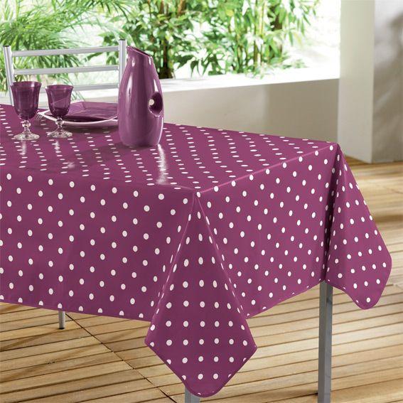nappe cir e rectangulaire l240 cm lollypop prune linge. Black Bedroom Furniture Sets. Home Design Ideas