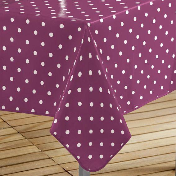 nappe cir e rectangulaire l240 cm lollypop prune linge de table eminza. Black Bedroom Furniture Sets. Home Design Ideas