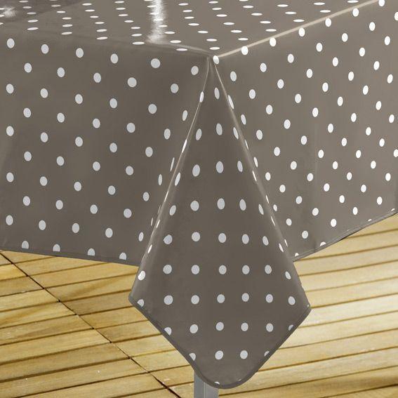 nappe cir e rectangulaire l240 cm lollypop taupe linge. Black Bedroom Furniture Sets. Home Design Ideas