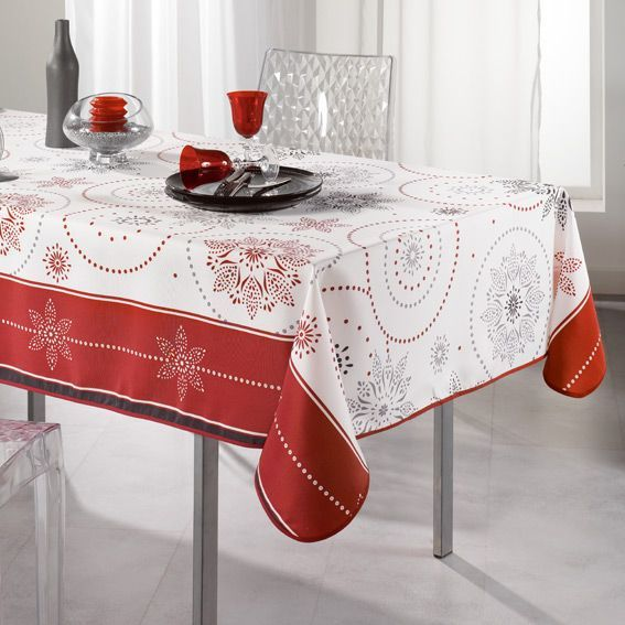 nappe rectangulaire l240 cm astree rouge nappe de. Black Bedroom Furniture Sets. Home Design Ideas