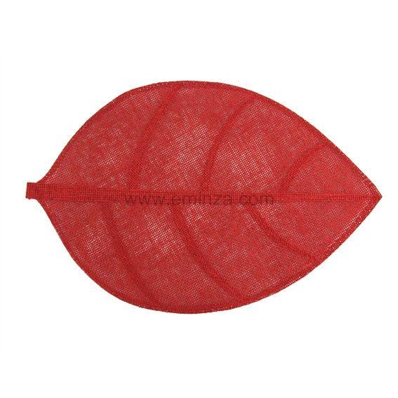 Set de table feuille rouge set de table eminza for Set de table tissu