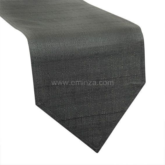 Chemin de table trendy gris anthracite chemin de table eminza - Chemin de table gris anthracite ...