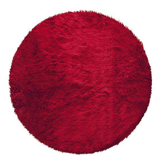 tapis rond marmotte rouge tapis de chambre salon eminza. Black Bedroom Furniture Sets. Home Design Ideas
