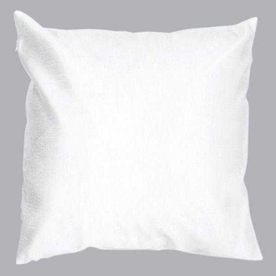 Housse de coussin shantung soiry blanc coussin eminza for Housse de coussin blanc