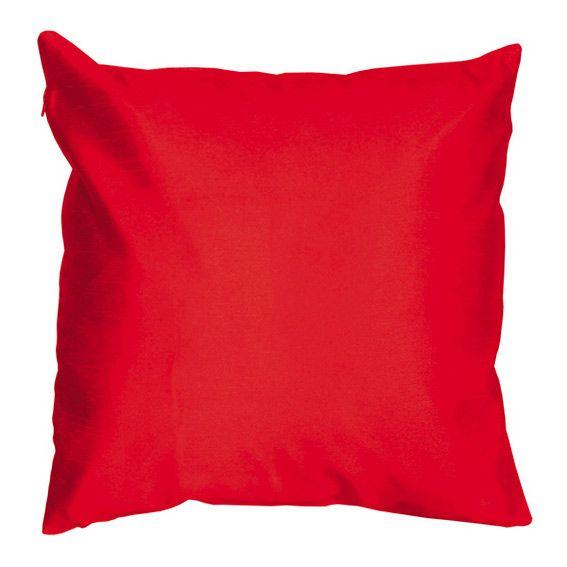 housse de coussin shantung soiry rouge coussin et housse de coussin eminza. Black Bedroom Furniture Sets. Home Design Ideas