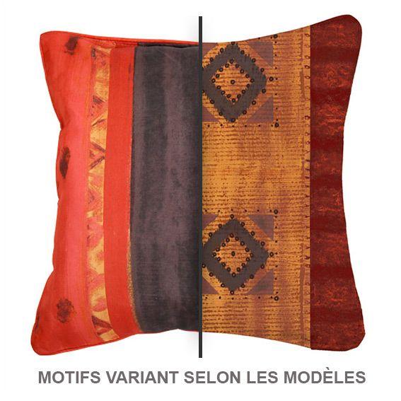 coussin imprim ethnique rouge coussin et housse de coussin eminza. Black Bedroom Furniture Sets. Home Design Ideas