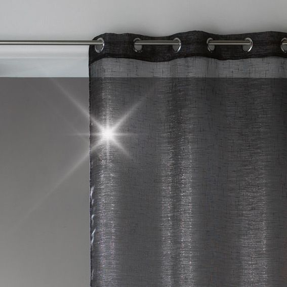 voilage noir et argent les ustensiles de cuisine. Black Bedroom Furniture Sets. Home Design Ideas