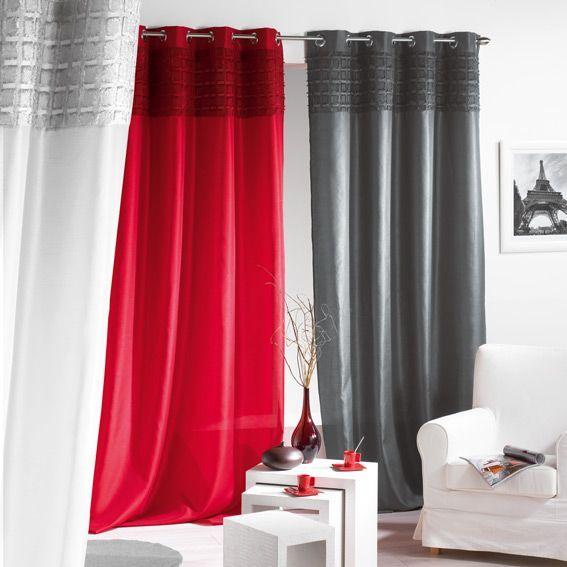 rideaux gris et noir latest rideaux pour salon noir et. Black Bedroom Furniture Sets. Home Design Ideas