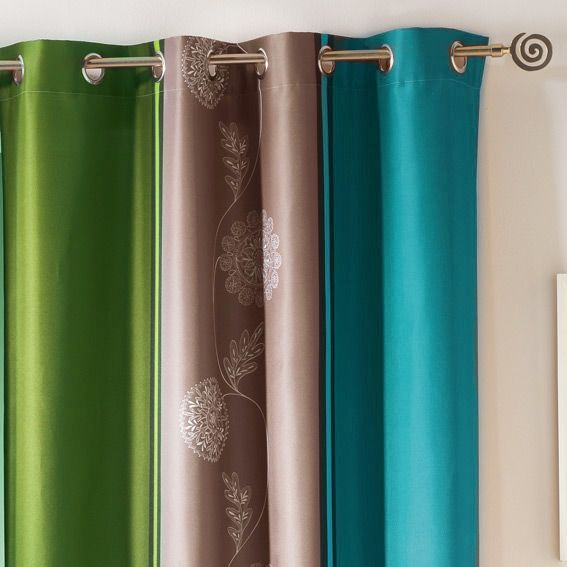 rideau oeillets baltique bleu vert rideau tamisant eminza. Black Bedroom Furniture Sets. Home Design Ideas