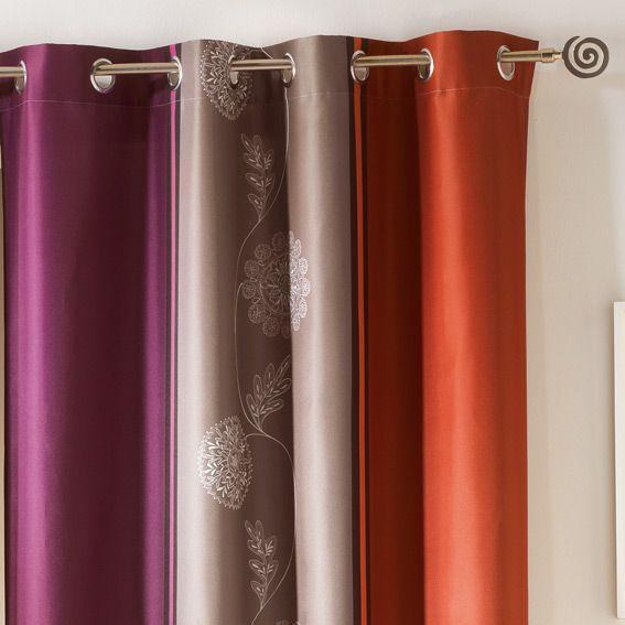 rideau oeillets baltique prune orange rideau tamisant eminza. Black Bedroom Furniture Sets. Home Design Ideas