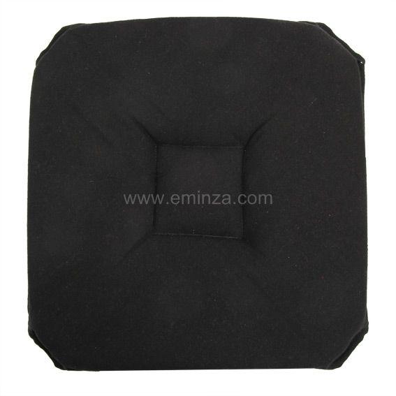 Galette matelass e rabats ethique noir galette et for Galette de chaise 4 rabats