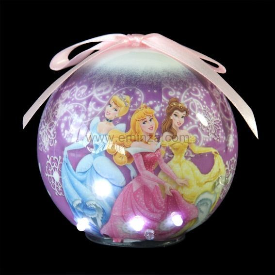 boule de no l led disney princesses blanc froid boule de no l eminza. Black Bedroom Furniture Sets. Home Design Ideas