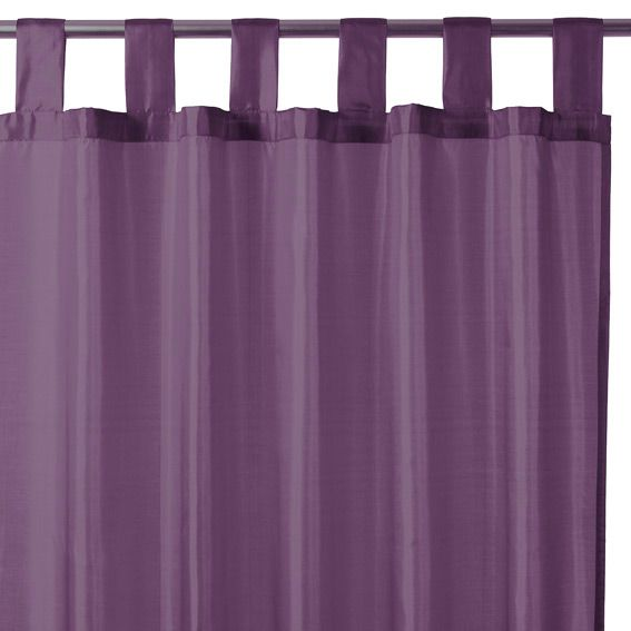 rideau passants satin violet rideau tamisant eminza. Black Bedroom Furniture Sets. Home Design Ideas