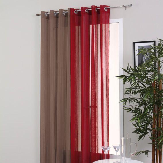 voilage oeillets aligna taupe voilage eminza. Black Bedroom Furniture Sets. Home Design Ideas