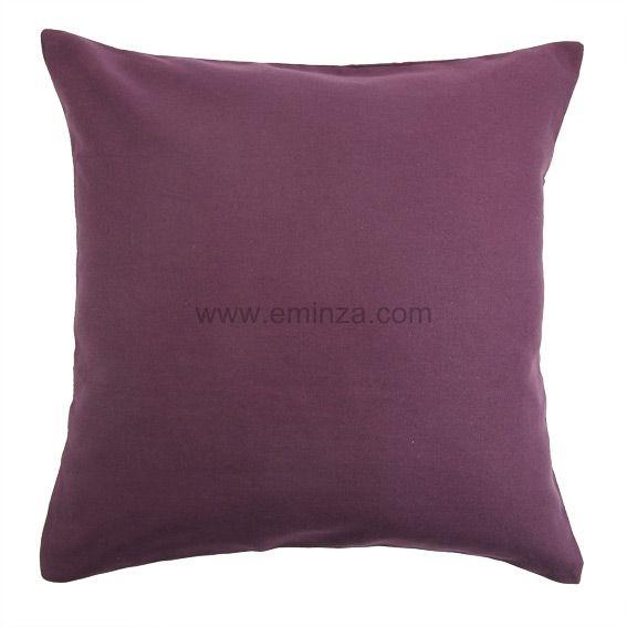 lot de 2 housses de coussin 40 cm contemporaine prune coussin et housse de coussin eminza. Black Bedroom Furniture Sets. Home Design Ideas