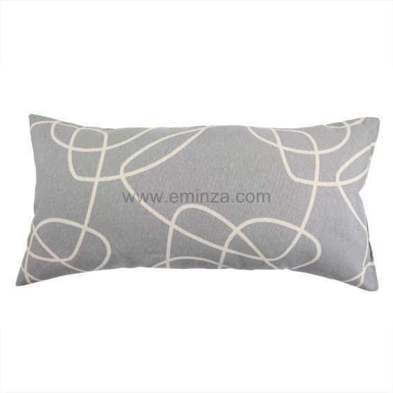 coussin rectangulaire gamme graphique gris coussin et housse de coussin eminza. Black Bedroom Furniture Sets. Home Design Ideas