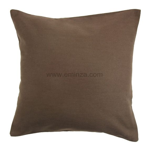 lot de 2 housses de coussin 60 cm contemporaine chocolat. Black Bedroom Furniture Sets. Home Design Ideas