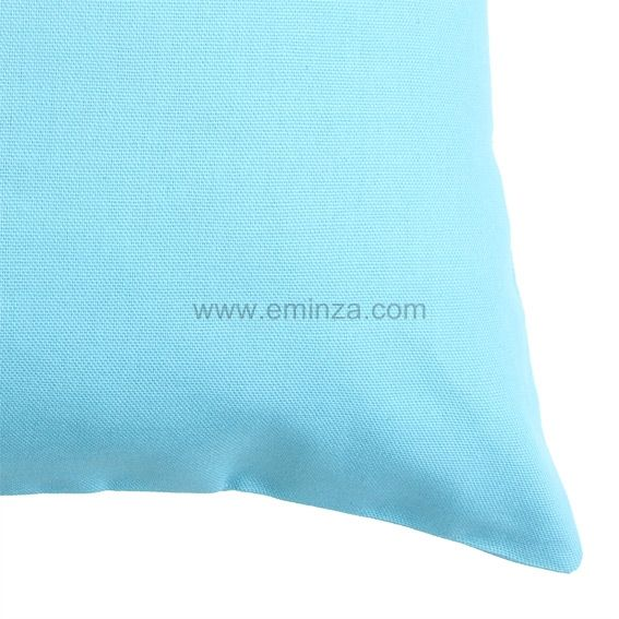 Lot de 2 housses de coussin 60 cm contemporaine for Housse de coussin turquoise