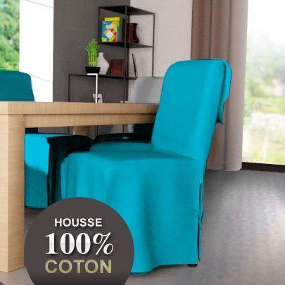 Housse de chaise contemporaine turquoise housse de for Housse de chaise turquoise