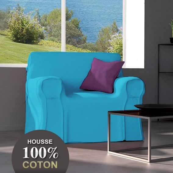 housse de canape bleu turquoise. Black Bedroom Furniture Sets. Home Design Ideas