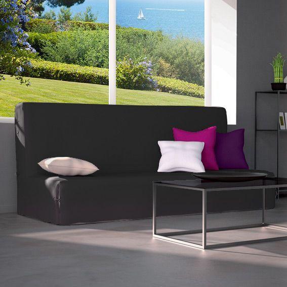 housse de clic clac contemporaine anthracite housse de. Black Bedroom Furniture Sets. Home Design Ideas