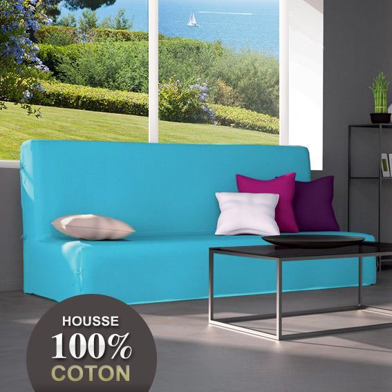 housse de clic clac gamme contemporaine bleu turquoise. Black Bedroom Furniture Sets. Home Design Ideas