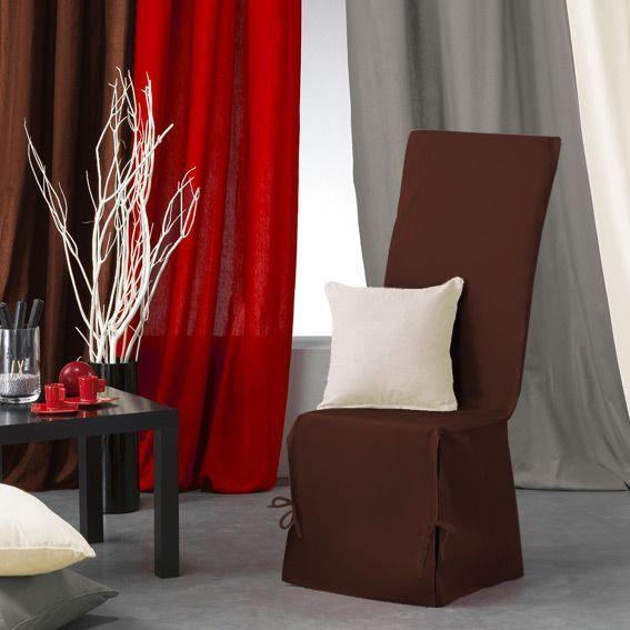 housse de chaise gamme panama chocolat housse de chaise eminza. Black Bedroom Furniture Sets. Home Design Ideas