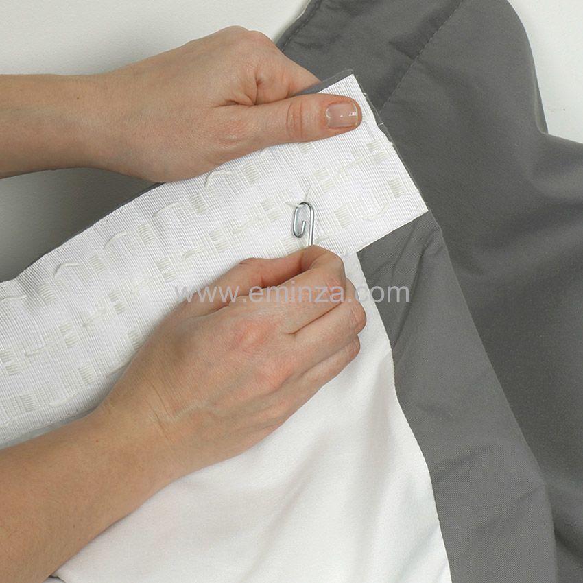 Rideau de porte thermique 100 x h220 cm igloo gris rideau isolant eminza - Rideau de porte isolant ...
