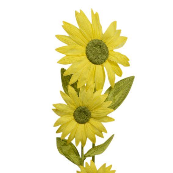 grande fleur de tournesol jaune couronne et verdure eminza. Black Bedroom Furniture Sets. Home Design Ideas
