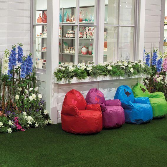 pouf fauteuil pour enfant bleu mobilier pour enfant eminza. Black Bedroom Furniture Sets. Home Design Ideas