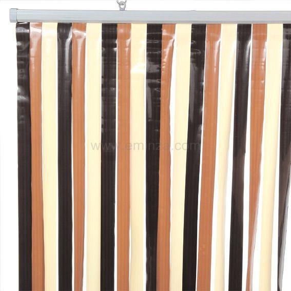 rideau de porte 90 x h220 cm lani res chocolat rideau de porte eminza. Black Bedroom Furniture Sets. Home Design Ideas