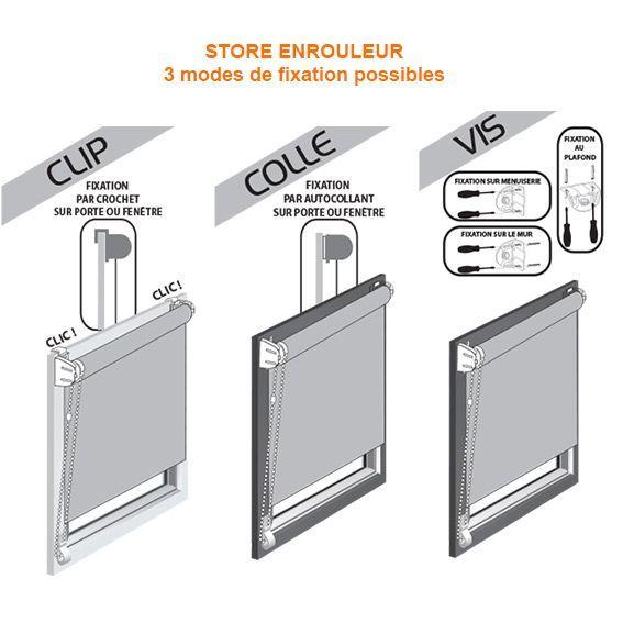 store enrouleur tamisant bali 90 x h180 cm blanc store int rieur eminza. Black Bedroom Furniture Sets. Home Design Ideas
