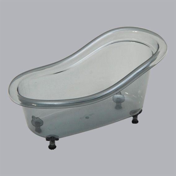 Rangement pour baignoire gris salle de bain eminza for Rangement baignoire