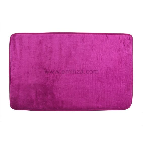 tapis de bain microfibre simply violet tapis salle de bain eminza. Black Bedroom Furniture Sets. Home Design Ideas