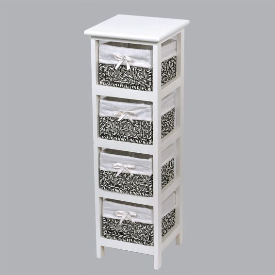 meuble panier maui troit blanc meuble d co eminza. Black Bedroom Furniture Sets. Home Design Ideas