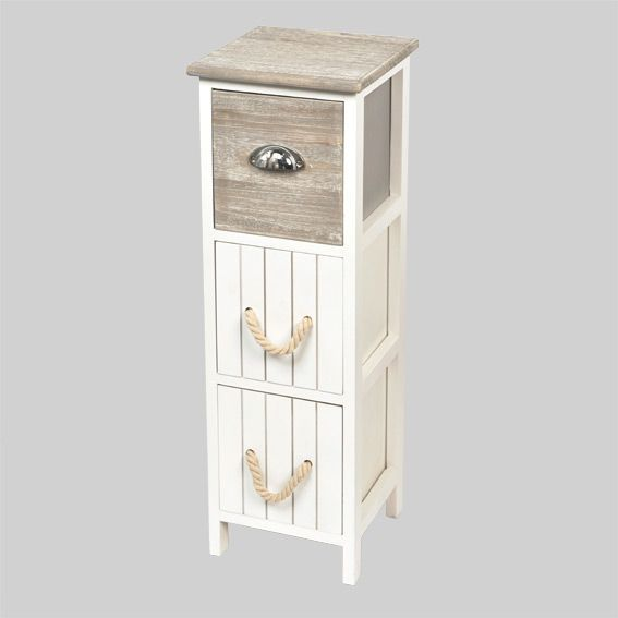 Meuble bois eastport blanc meuble d co eminza for Meuble miniature en bois